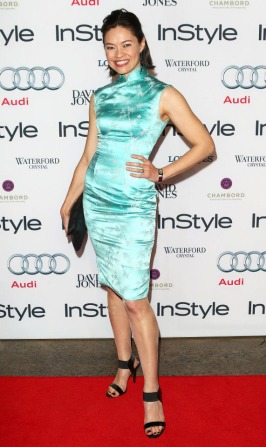 Wearing my mother's 1960s cheongsam on the red carpet for the Audi InStyle Women of Style Awards 2012. (Image credit: InStyle magazine)